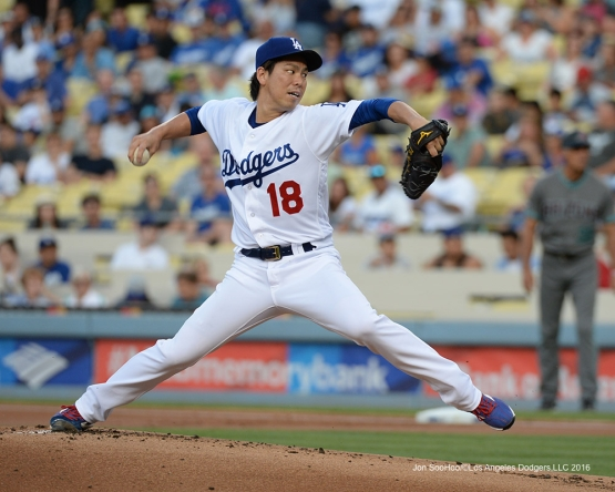 Los Angeles Dodgers Kenta Maeda during game against the Arizona Diamondbacks Friday, July 29,2016 at Dodger Stadium in Los Angeles,California. Photo by Jon SooHoo/©Los Angeles Dodgers,LLC 2016