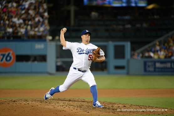 Los Angeles Dodgers Joe Blanton during game against the Arizona Diamondbacks Friday, July 29,2016 at Dodger Stadium in Los Angeles,California. Photo by Jon SooHoo/©Los Angeles Dodgers,LLC 2016