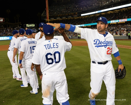Los Angeles Dodgers beat the Arizona Diamondbacks Friday, July 29,2016 at Dodger Stadium in Los Angeles,California. Photo by Jon SooHoo/©Los Angeles Dodgers,LLC 2016