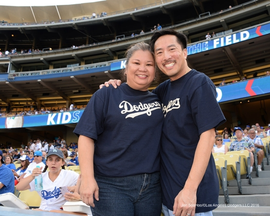 Great Los Angeles Dodger fans prior to game against the Arizona Diamondbacks Friday, July 30,2016 at Dodger Stadium in Los Angeles,California. Photo by Jon SooHoo/©Los Angeles Dodgers,LLC 2016