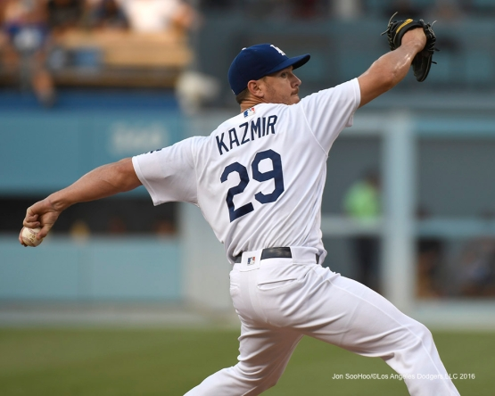 Scott Kazmir during game against the Arizona Diamondbacks Friday, July 30,2016 at Dodger Stadium in Los Angeles,California. Photo by Jon SooHoo/©Los Angeles Dodgers,LLC 2016