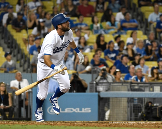 Chris Taylor during game against the Arizona Diamondbacks Friday, July 30,2016 at Dodger Stadium in Los Angeles,California. Photo by Jon SooHoo/©Los Angeles Dodgers,LLC 2016