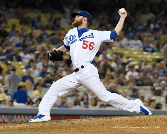 J.P.Howell during game against the Arizona Diamondbacks Friday, July 30,2016 at Dodger Stadium in Los Angeles,California. Photo by Jon SooHoo/©Los Angeles Dodgers,LLC 2016