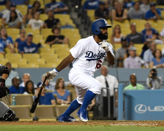 Andrew Toles during game against the Arizona Diamondbacks Friday, July 30,2016 at Dodger Stadium in Los Angeles,California. Photo by Jon SooHoo/©Los Angeles Dodgers,LLC 2016