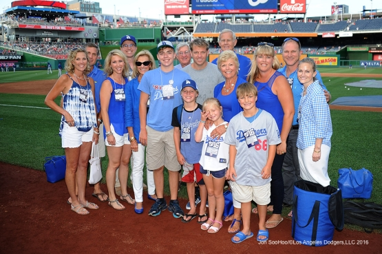 The Boehly Family prior to game against the Washington Nationals Wednesday, July 20, 2016 at Nationals Park in Washington,DC. Photo by Jon SooHoo/©Los Angeles Dodgers,LLC 2016