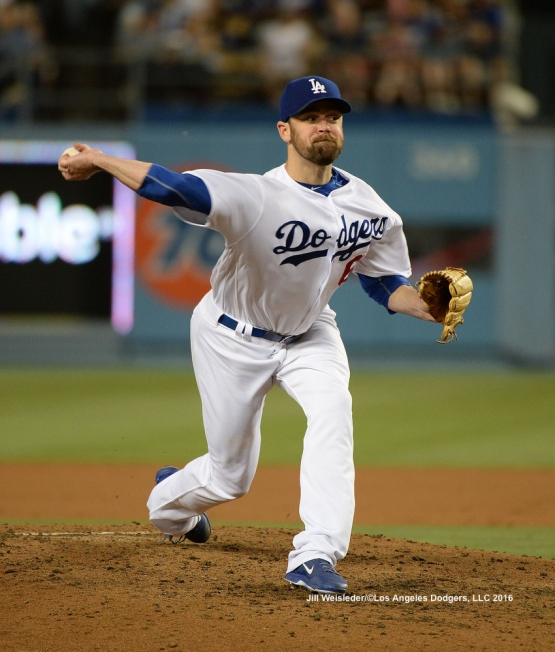 Louis Coleman pitches against the Padres. Jill Weisleder/LA Dodgers
