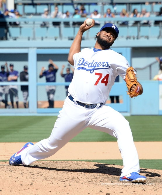 Kenley Jansen comes in to pitch in the 9th inning. Jill Weisleder/Dodgers