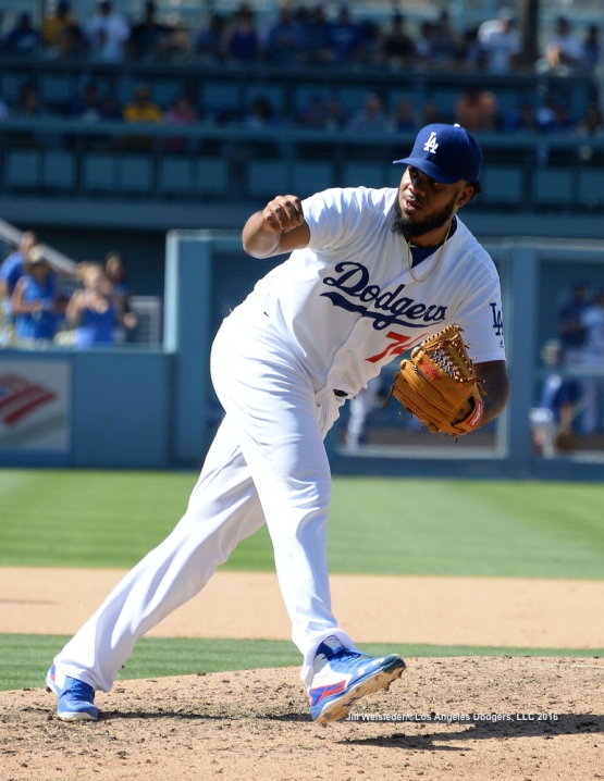 Kenley Jansen follows through on a pitch. Jill Weisleder/LA Dodgers