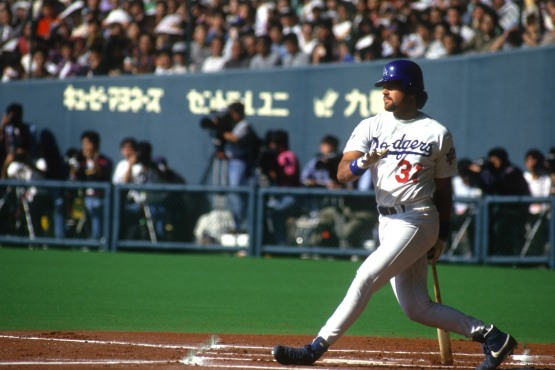 Mike Piazza in Fukuoka, Japan November 1993. © Jon SooHoo/Los Angeles Dodgers
