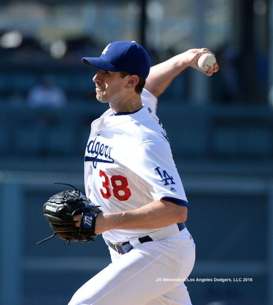 Brandon McCarthy made the start on the mound against the Padres. Jill Weisleder/LA Dodgers