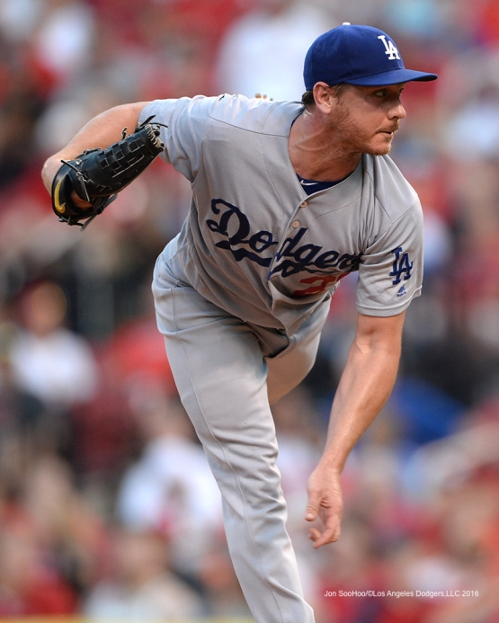 Los Angeles Dodgers Scott Kazmir during game against the St. Louis Cardinals at Busch Stadium Sunday, July 24, 2016 in St.Louis, Missouri. Photo by Jon SooHoo/©Los Angeles Dodgers,LLC 2016