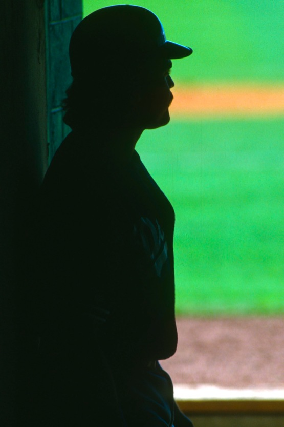 MIke Piazza silhouette March 1994 © Jon SooHoo/Los Angeles Dodgers