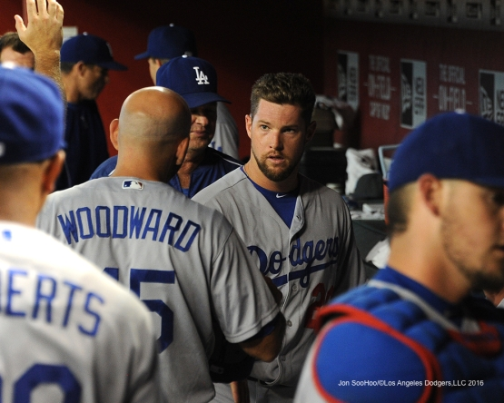 Los Angeles Dodgers Bud Norris during game against the Arizona Diamondbacks Friday, July 15, 2016 at Chase Field in Phoenix, Arizona. Photo by Jon SooHoo/©Los Angeles Dodgers,LLC 2016
