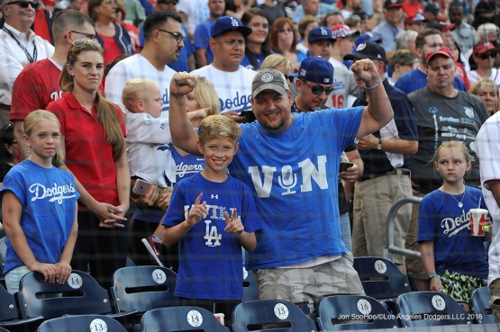 Great Los Angeles Dodger fans prior to game against the Washington Nationals Wednesday, July 20, 2016 at Nationals Park in Washington,DC. Photo by Jon SooHoo/©Los Angeles Dodgers,LLC 2016