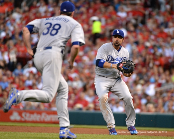 Los Angeles Dodgers Adrian Gonzalez during game against the St. Louis Cardinals at Busch Stadium Friday, July 22, 2016 in St.Louis, Missouri.  Photo by Jon SooHoo/©Los Angeles Dodgers,LLC 2016