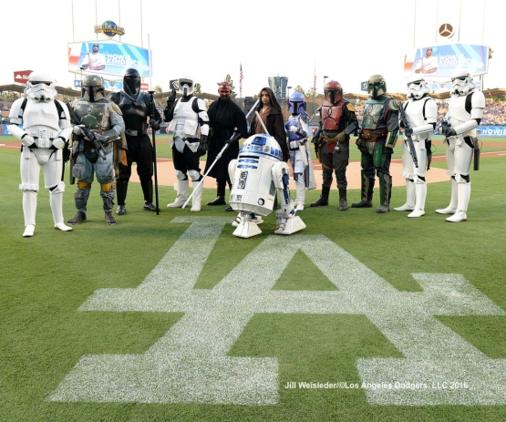 The Los Angeles Dodgers host Star Wars Night at Dodger Stadium. Jill Weisleder/Dodgers