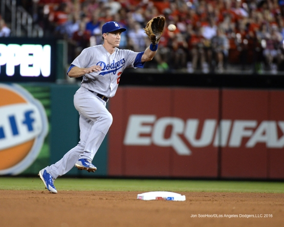 Los Angeles Dodgers Chase Utley during game against the St. Louis Cardinals at Busch Stadium Friday, July 22, 2016 in St.Louis, Missouri.  Photo by Jon SooHoo/©Los Angeles Dodgers,LLC 2016