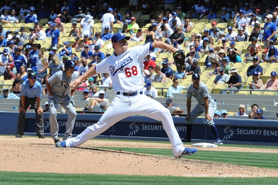 Los Angeles Dodgers Ross Stripling during game against the Tampa Bay Rays Wednesday, July 27,2016 at Dodger Stadium in Los Angeles,California. Photo by Violet Herzfeld