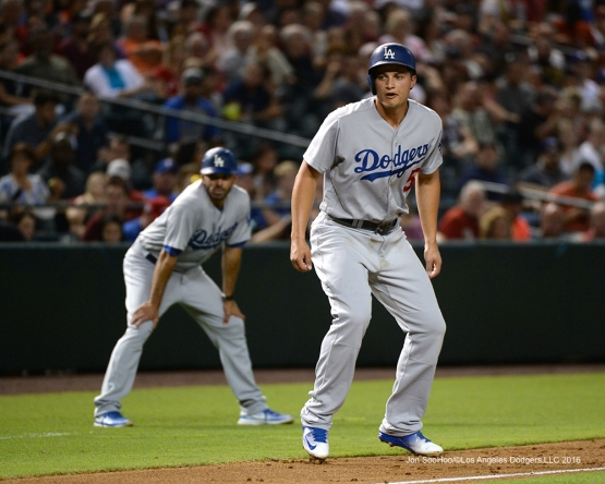 Los Angeles Dodgers Corey Seager during game against the Arizona Diamondbacks Friday, July 15, 2016 at Chase Field in Phoenix, Arizona. Photo by Jon SooHoo/©Los Angeles Dodgers,LLC 2016