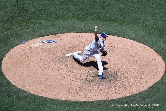 Los Angeles Dodgers Ross Stripling during game against the Tampa Bay Rays Wednesday, July 27,2016 at Dodger Stadium in Los Angeles,California. Photo by Jon SooHoo©Los Angeles Dodgers,LLC 2016
