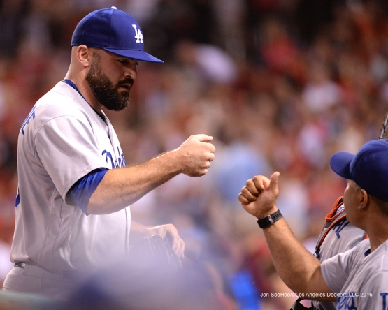 Los Angeles Dodgers Adam Liberatore during game against the St. Louis Cardinals at Busch Stadium Friday, July 22, 2016 in St.Louis, Missouri.  Photo by Jon SooHoo/©Los Angeles Dodgers,LLC 2016