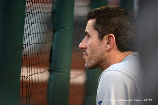 Los Angeles Dodgers Brandon McCarthy during game against the Washington Nationals Wednesday, July 20, 2016 at Nationals Park in Washington,DC. Photo by Jon SooHoo/©Los Angeles Dodgers,LLC 2016