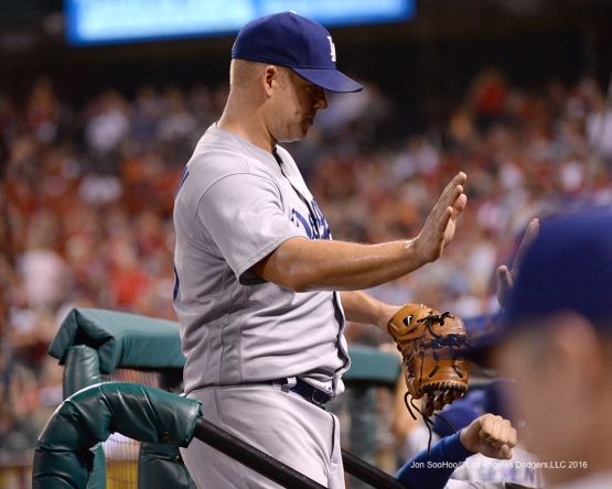 Los Angeles Dodgers Joe Blanton during game against the St. Louis Cardinals at Busch Stadium Friday, July 22, 2016 in St.Louis, Missouri.  Photo by Jon SooHoo/©Los Angeles Dodgers,LLC 2016