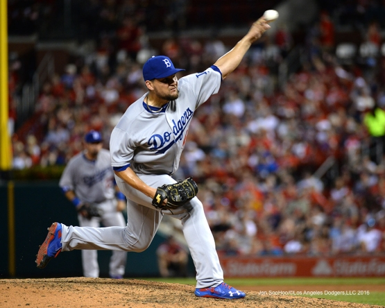 Los Angeles Dodgers Luis Avilan during game against the St. Louis Cardinals at Busch Stadium Saturday, July 23, 2016 in St.Louis, Missouri.  Photo by Jon SooHoo/©Los Angeles Dodgers,LLC 2016