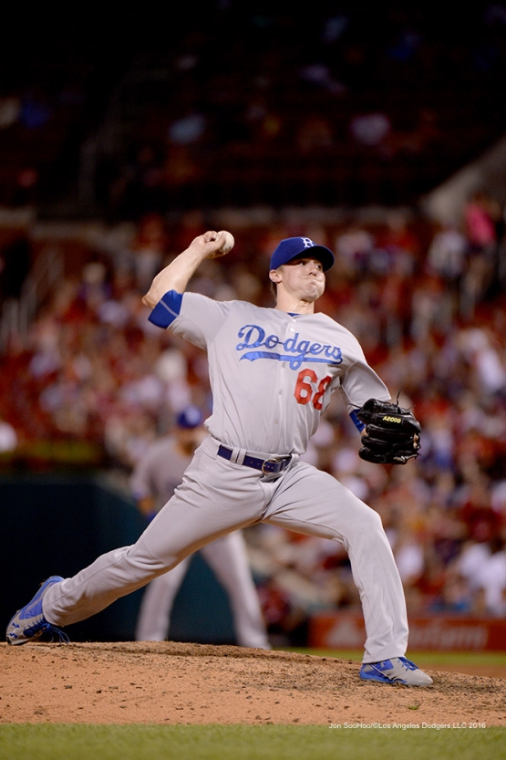 Los Angeles Dodgers Ross Stripling during game against the St. Louis Cardinals at Busch Stadium Saturday, July 23, 2016 in St.Louis, Missouri.  Photo by Jon SooHoo/©Los Angeles Dodgers,LLC 2016
