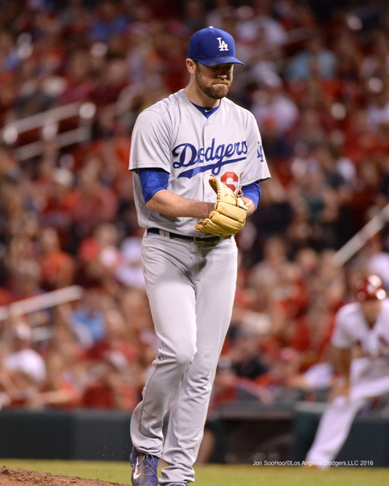 Los Angeles Dodgers Louis Coleman during game against the St. Louis Cardinals at Busch Stadium Friday, July 22, 2016 in St.Louis, Missouri.  Photo by Jon SooHoo/©Los Angeles Dodgers,LLC 2016