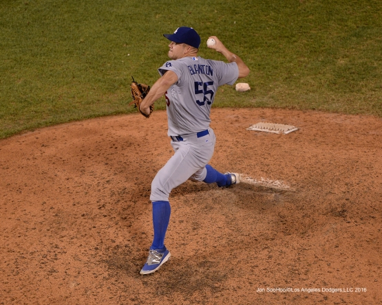Los Angeles Dodgers Joe Blantonduring game against the St. Louis Cardinals at Busch Stadium Sunday, July 24, 2016 in St.Louis, Missouri. Photo by Jon SooHoo/©Los Angeles Dodgers,LLC 2016
