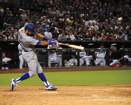 Los Angeles Dodgers Chris Taylor hits his first home run/grand slam during game against the Arizona Diamondbacks Friday, July 15, 2016 at Chase Field in Phoenix, Arizona. Photo by Jon SooHoo/©Los Angeles Dodgers,LLC 2016