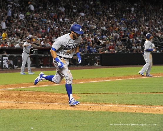 Los Angeles Dodgers Chris Taylor during game against the Arizona Diamondbacks Friday, July 15, 2016 at Chase Field in Phoenix, Arizona. Photo by Jon SooHoo/©Los Angeles Dodgers,LLC 2016