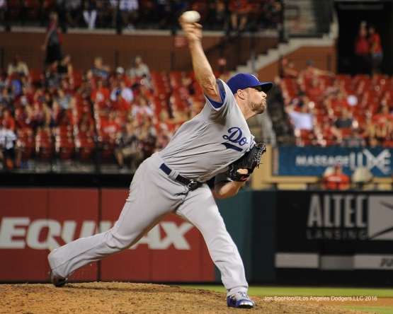Los Angeles Dodgers Bud Norris during game against the St. Louis Cardinals at Busch Stadium Friday, July 22, 2016 in St.Louis, Missouri.  Photo by Jon SooHoo/©Los Angeles Dodgers,LLC 2016