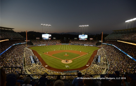 Fans enjoy their view watching the Dodgers take on the San Diego Padres. Jill Weisleder/LA Dodgers