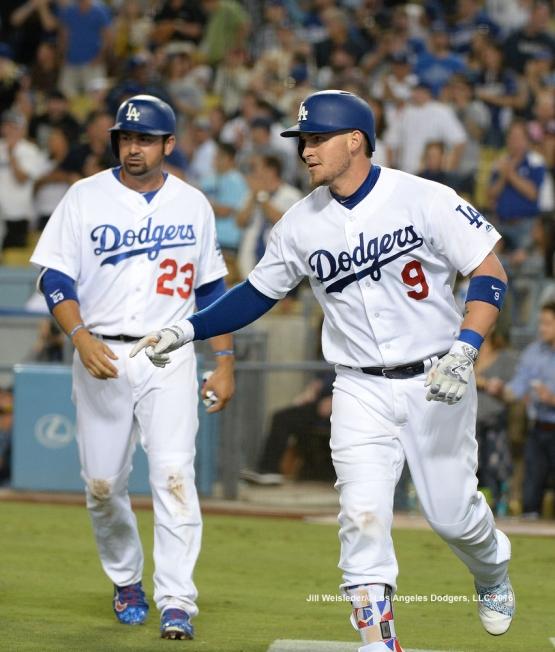 Adrian Gonzalez and Yasmani Grandal come into score. Jill Weisleder/LA Dodgers