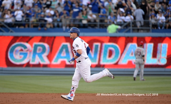 Yasmani Grandal connects for a back-to-back home run in the second inning. Jill Weisleder/Dodgers