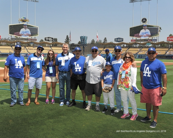 Great Los Angeles Dodgers fans prior to game against the Chicago Cubs Saturday, August 27 2016 at Dodger Stadium in Los Angeles,California. Photo by Jon SooHoo/©Los Angeles Dodgers,LLC 2016