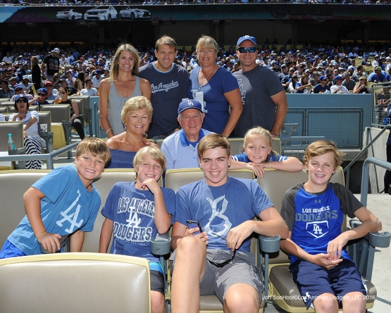 The Boehly family during game against the Chicago Cubs Saturday, August 27 2016 at Dodger Stadium in Los Angeles,California. Photo by Jon SooHoo/©Los Angeles Dodgers,LLC 2016