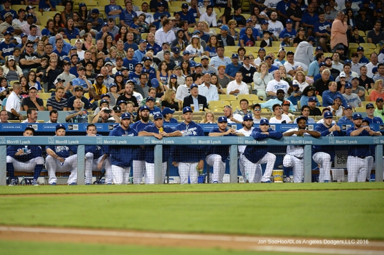 Los Angeles Dodgers during game against the San Francisco Giants Wednesday, August 24, 2016 at Dodger Stadium in Los Angeles,California. Photo by Jon SooHoo/©Los Angeles Dodgers,LLC 2016
