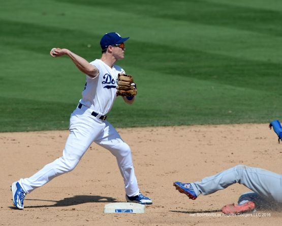 Chase Utley during game against the Chicago Cubs Saturday, August 27 2016 at Dodger Stadium in Los Angeles,California. Photo by Jon SooHoo/©Los Angeles Dodgers,LLC 2016