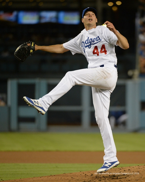 Rich Hill throws  against the San Francisco Giants Wednesday, August 24, 2016 at Dodger Stadium in Los Angeles,California. Photo by Jon SooHoo/©Los Angeles Dodgers,LLC 2016