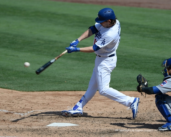 Josh Reddick during game against the Chicago Cubs Saturday, August 27 2016 at Dodger Stadium in Los Angeles,California. Photo by Jon SooHoo/©Los Angeles Dodgers,LLC 2016