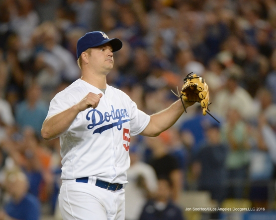 Joe Blanton during game against the San Francisco Giants Wednesday, August 24, 2016 at Dodger Stadium in Los Angeles,California. Photo by Jon SooHoo/©Los Angeles Dodgers,LLC 2016