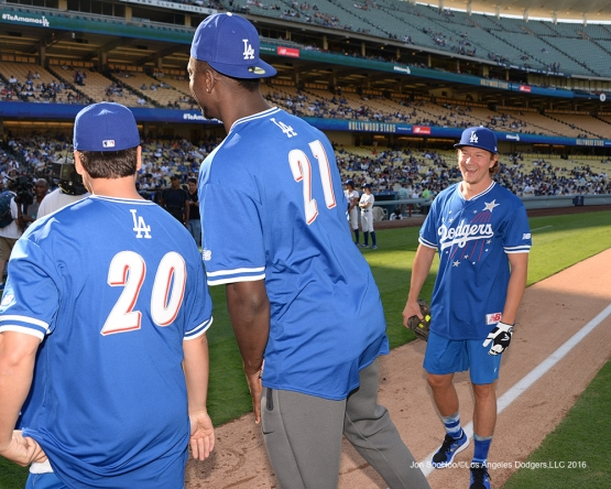 Tyler Toffoli during the Hollywood Stars Game Saturday, August 27 2016 at Dodger Stadium in Los Angeles,California. Photo by Jon SooHoo/©Los Angeles Dodgers,LLC 2016