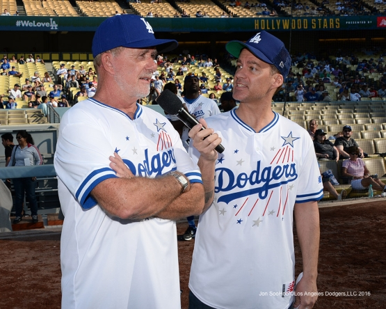 Alan Thicke during the Hollywood Stars Game Saturday, August 27 2016 at Dodger Stadium in Los Angeles,California. Photo by Jon SooHoo/©Los Angeles Dodgers,LLC 2016