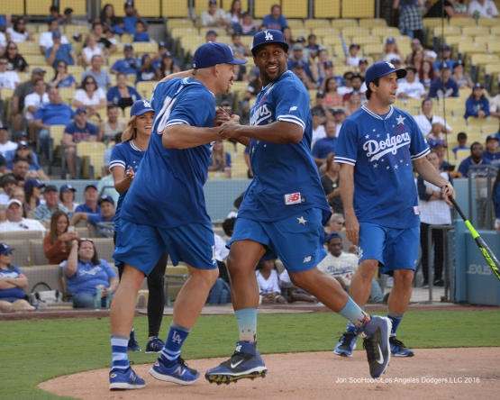 Jaleel White during the Hollywood Stars Game Saturday, August 27 2016 at Dodger Stadium in Los Angeles,California. Photo by Jon SooHoo/©Los Angeles Dodgers,LLC 2016