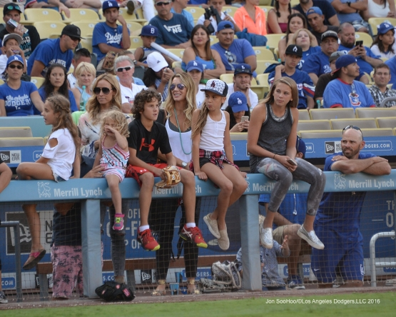 The Woodwards take in the  Hollywood Stars Game Saturday, August 27 2016 at Dodger Stadium in Los Angeles,California. Photo by Jon SooHoo/©Los Angeles Dodgers,LLC 2016