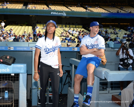 Mo'Ne Davis during the Hollywood Stars Game Saturday, August 27 2016 at Dodger Stadium in Los Angeles,California. Photo by Jon SooHoo/©Los Angeles Dodgers,LLC 2016