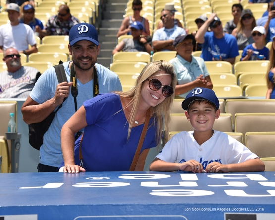 Great Los Angeles Dodgers fans prior to game against the Arizona Diamondbacks Sunday, July 31,12016 at Dodger Stadium in Los Angeles,California. Photo by Jon SooHoo/©Los Angeles Dodgers,LLC 2016